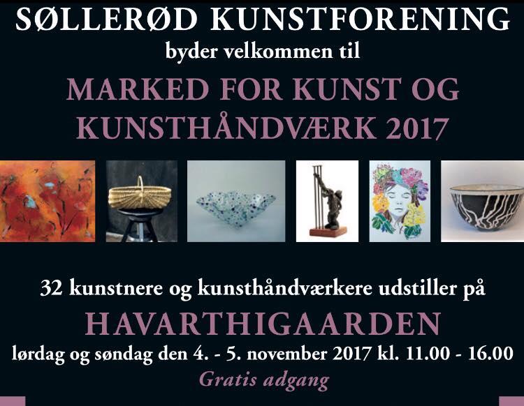 Søllerød kunstmarked 4. – 5. nov. kl. 11.00 – 16.00